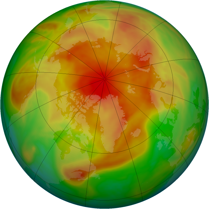 Arctic ozone map for 11 April 2005